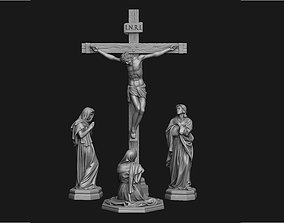 3D model Crucifixion Scene Set