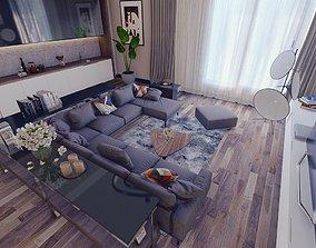Lumion 10 Interior Modern living Room Scene 3D model