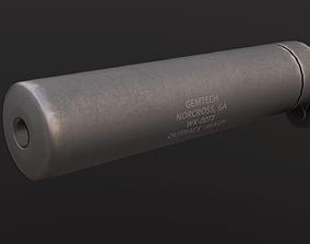 gemtech 45acp caliber silencer 3D asset