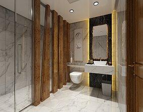 modern bathroom 3D asset game-ready