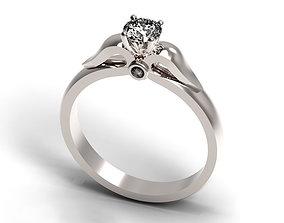 3D printable model Leaf Engagement Ring 006