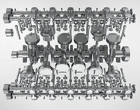 Ferrari V12 Engine Low-poly 3D model 3D print