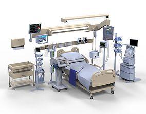 3D model Hospital ward bed