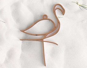 3D print model Pink Flamingo pendant