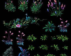 3D Cartoon plant pack cypress