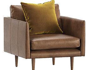 3D model Burrard Bella Tan Chair by Article