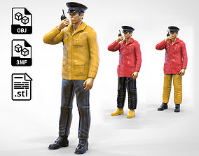 3D printable model Coast Guard or Police boat crew or 1