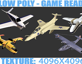 Aircrafts Collection1 3D asset game-ready