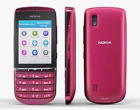 3D asset VR / AR ready Nokia Asha 300 Pink