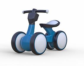 3D model Childrens mini four wheel bicycle v3