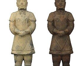 Terracotta Army Warrior 3D asset