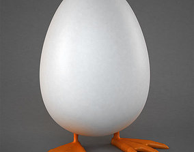 Egg with feet 3D