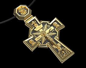 pendant cross hebrew 3D print model