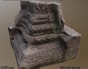 3D model Pillar Base Asymmetric Ancient