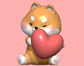 3D print model cute Shiba dog