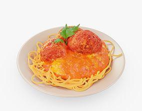 Pasta Dish 3D model