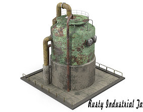 Rusty Industrial Tank 3D model