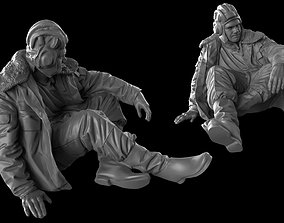 Modern Russian Tank crew 35 120 mm 3D print model