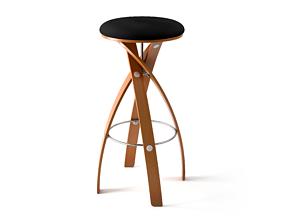 Witt Design Furniture - Stave Stool 3D model