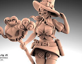 3D print model Mage Apprentice - Fantasy Pin-up