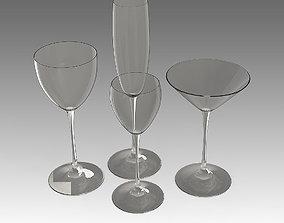 3D model Cocktail Glass 05