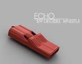 Echo 3 tone whistle 3D printable model