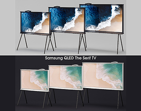 3D Samsung QLED The Serif TV 2019 black and