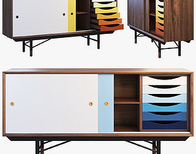 3D model 1955 Sideboard 3 options