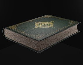 books bookcase 3D model game-ready