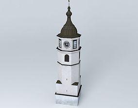 Historical Clock Tower 3D model