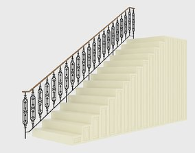 3D Highly detailed railing 01