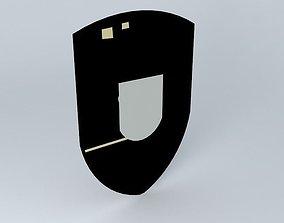 3D model Porsche logo
