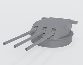 16-inch Gun Turret 3D