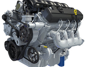V8 Car Engine 2020 3D model