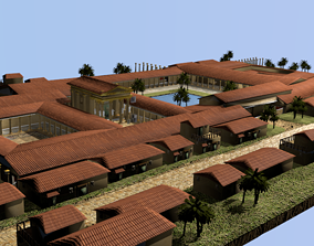 3D Ancient Temple area game ready tested on Unity