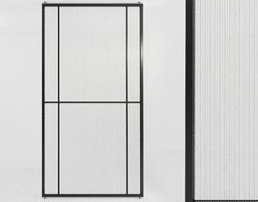 Glass partition door 56 3D model