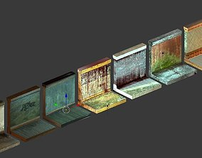 Low Poly Game Ready Modular Wall Pack 3D model
