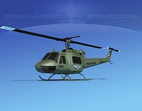Bell UH-1B Iroquois Philipines 3D model