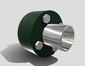 3D asset Machine - Pipe Flange