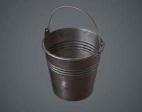 Bucket Steel 3D model