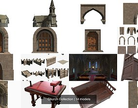 medieval Church Collection 3D model