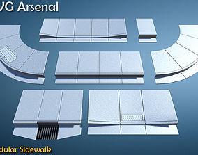 Modular Sidewalk 3D asset