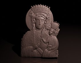 3D print model Mother of God icon