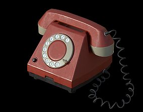 Old Phone 3D model low-poly retro