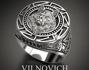 white wolf ring 3D print model
