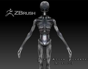 3D asset Orion Alien - Sci Fi Horror -