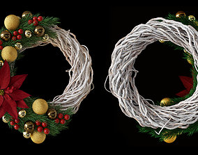 3D model Christmas wreath decoration nature