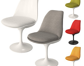 Knoll Tulip Chair Armless 3D model