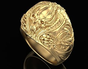 3D print model ring Alien guest