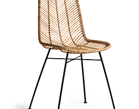Rattan chair Lena - Bloomingville 3D model